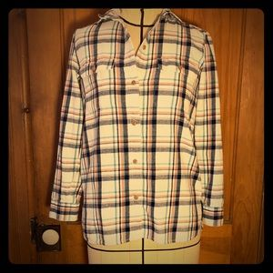 Madewell plaid flannel button down
